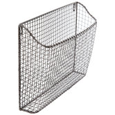 Pewter Metal Wall Basket